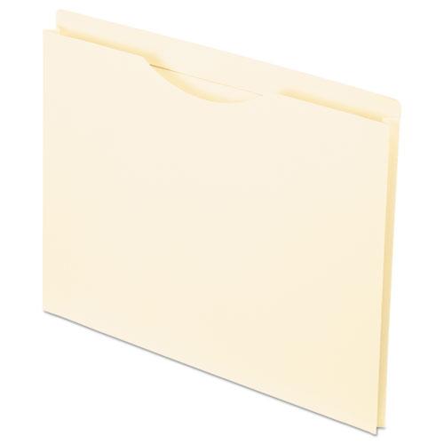 Manila Reinforced File Jackets, 2-Ply Straight Tab, Letter Size, Manila, 50/Box | by Plexsupply