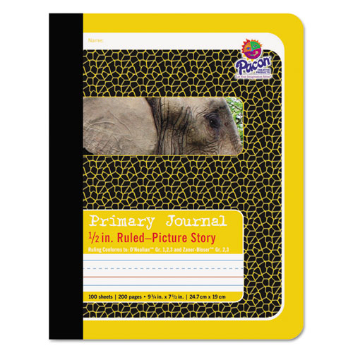 Primary Journal, Medium/College Rule, 9.75 x 7.5, 100 Sheets | by Plexsupply