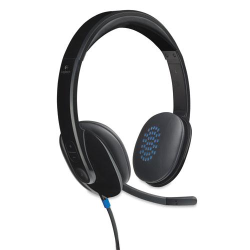 H540 Corded Headset, USB, Black | by Plexsupply