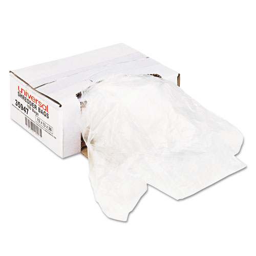 High-Density Shredder Bags, 16 gal Capacity, 100/Box | by Plexsupply