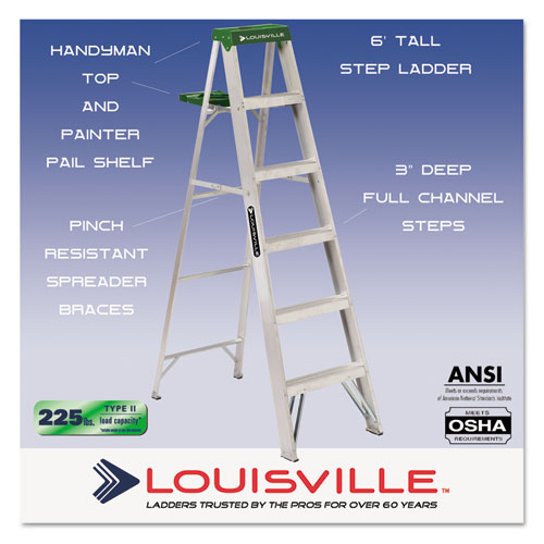 Dadas4006 Louisville 428 Folding Aluminum Step Ladder Zuma