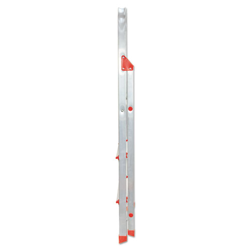 566 Folding Aluminum Euro Platform Ladder 3 Step Red