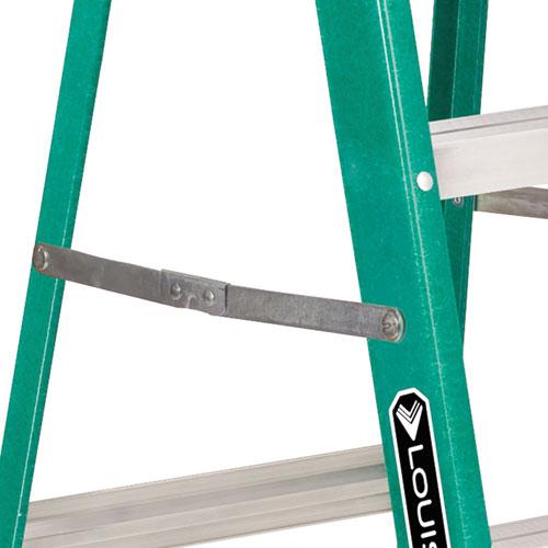 Collapsible Ladder 8 : Folding fiberglass step ladder ft green