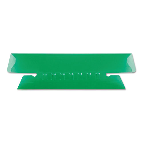 "Transparent Colored Tabs For Hanging File Folders, 1/3-Cut Tabs, Green, 3.5"" Wide, 25/Pack 