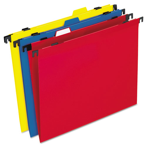 2-in-1 Colored Poly Folders with Built-in Tabs, Letter Size, 1/3-Cut Tab, Assorted, 10/Pack | by Plexsupply