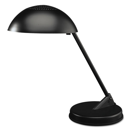 Incandescent Desk Lamp with Vented Dome Shade, 8.75w x 16.25d x 16.25h, Matte Black