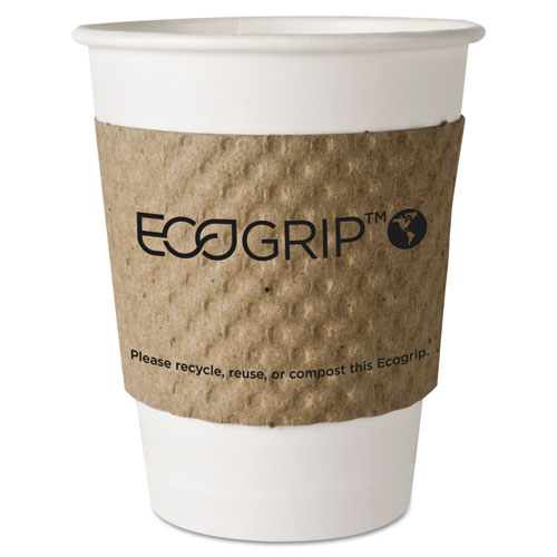 Eco-Products, Inc Eg2000 Ecogrip Recycled Content Hot Cup Sleeve, Kraft, 1300-Ctn EG2000