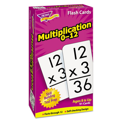 Skill Drill Flash Cards, 3 x 6, Multiplication