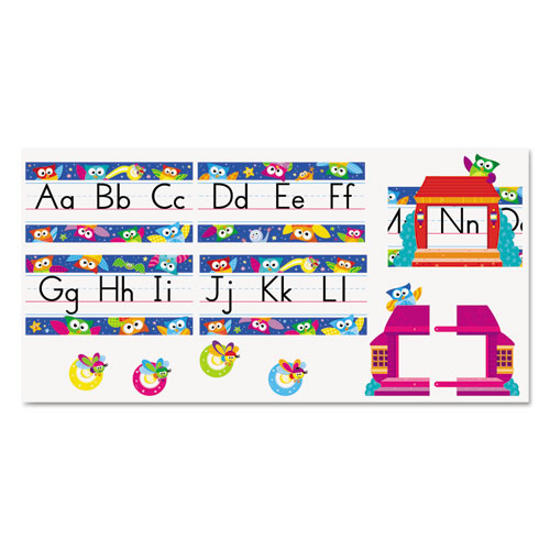 "TREND® Owl-Stars! ""Alphabet Line"" Bulletin Board Set, 12 3/4 x 8 1/2, 29 Pieces"