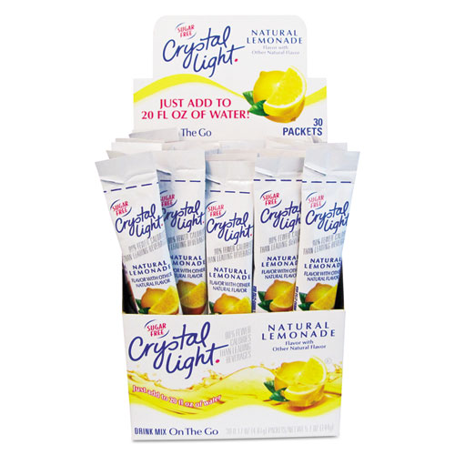 Crystal Light® Flavored Drink Mix, Lemonade, 30 .17oz Packets/Box
