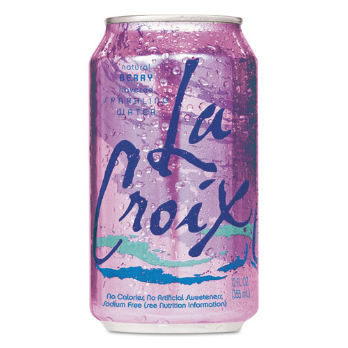 Sparkling Water, Berry, 12oz Can, 24/Carton
