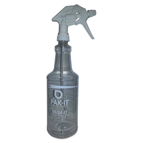 Empty Color-Coded Trigger-Spray Bottle, 32 oz, for Waterless Vehicle Wash