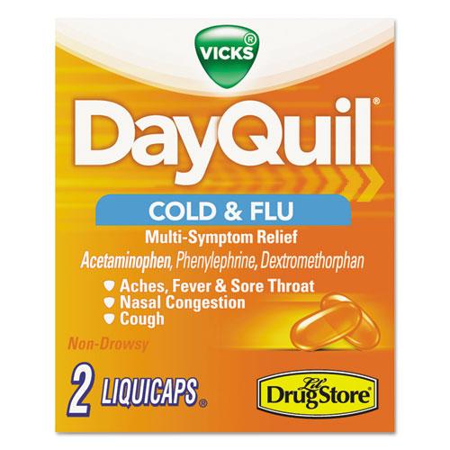 Severe Cold & Flu Caplets, Daytime, Refill Pack, 2 Caplets/Packet, 20 Packs/Box