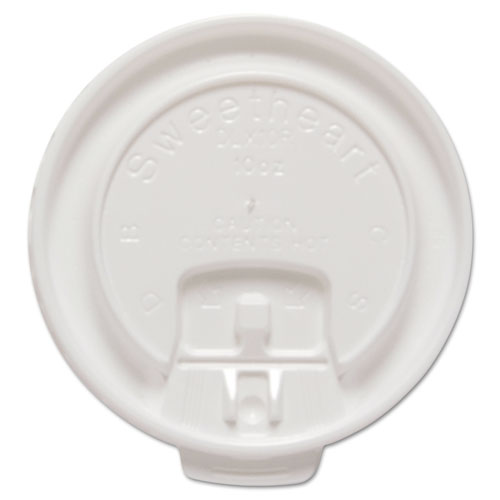 Dart® Liftback & Lock Tab Cup Lids for Foam Cups, Fits 10 oz Trophy Cups, WE, 100/PK