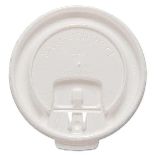 Liftback & Lock Tab Cup Lids for Foam Cups, Fits 8 oz Trophy Cups, WE, 100/PK DLX8RPK