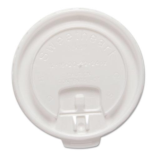 Liftback & Lock Tab Cup Lids for Foam Cups, Fits 12 oz Trophy Cups, WE, 100/PK DLX12RPK