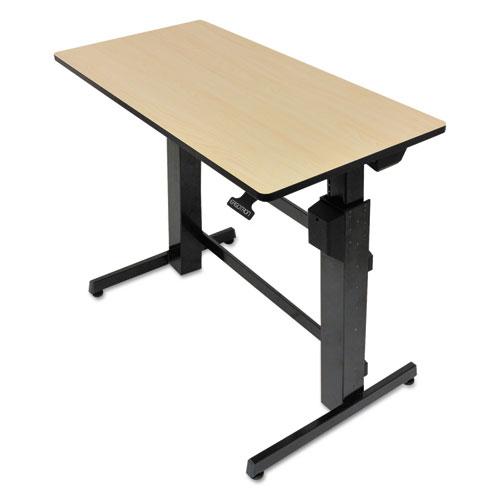 WorkFit D Sit-Stand Workstation, 47.63w x 23.5d x 50.63h, Birch/Black