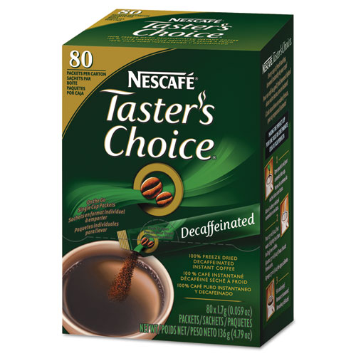 Nescafé® Taster's Choice Stick Pack, Decaf, .06oz, 80/Box