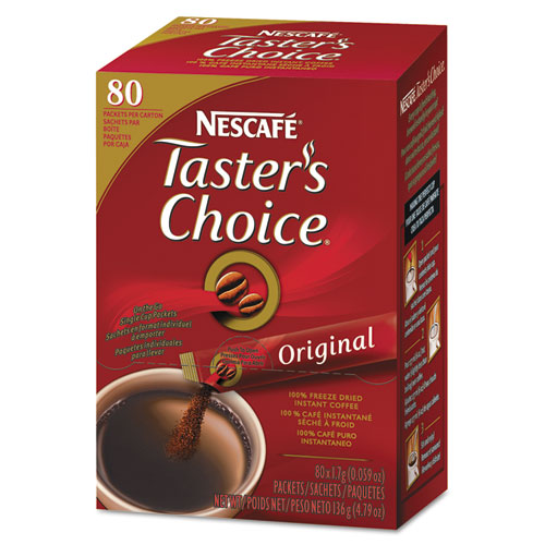 Nescafé® Taster's Choice Stick Pack, Premium Choice, 80/Box