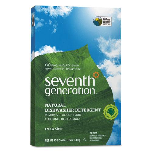 Seventh Generation® Natural Automatic Dishwasher Powder, Free & Clear, Jumbo 75oz Box SEV22151