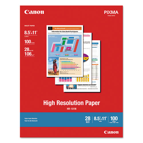 High Resolution Paper, 8.5 x 11, Matte White, 100/Pack