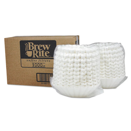 Basket Filters for Retail and Commercial Coffeemakers, 12 Cups, 1000/Carton