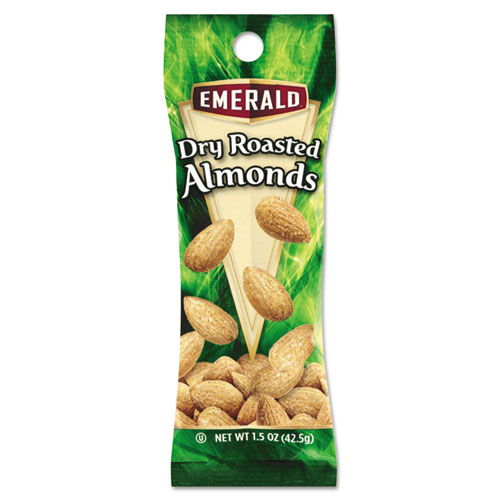 Dry Roasted Almonds, 1.5 oz Tube Package, 12/Box