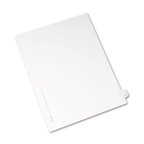 Preprinted Legal Exhibit Side Tab Index Dividers, Allstate Style, 26-Tab, B, 11 x 8.5, White, 25/Pack | by Plexsupply