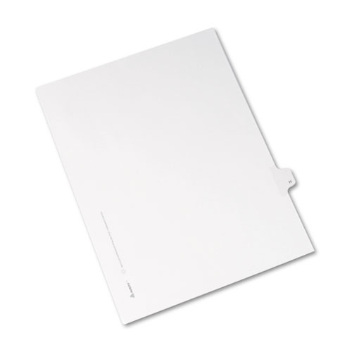Preprinted Legal Exhibit Side Tab Index Dividers, Allstate Style, 26-Tab, H, 11 x 8.5, White, 25/Pack | by Plexsupply