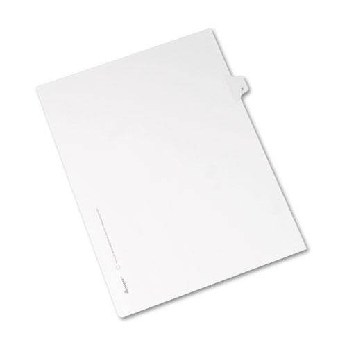 Preprinted Legal Exhibit Side Tab Index Dividers, Allstate Style, 26-Tab, T, 11 x 8.5, White, 25/Pack | by Plexsupply