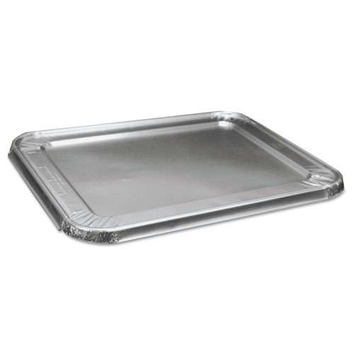 Boardwalk® Half Size Aluminum Steam Table Pan Lid, Deep, 100/Carton