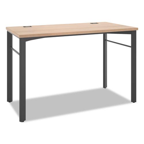 HON® Manage Series Desk Table, 60w x 23 1/2d x 29 1/2h, Chestnut