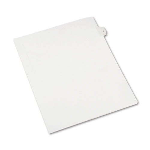 Preprinted Legal Exhibit Side Tab Index Dividers, Allstate Style, 10-Tab, 5, 11 x 8.5, White, 25/Pack | by Plexsupply