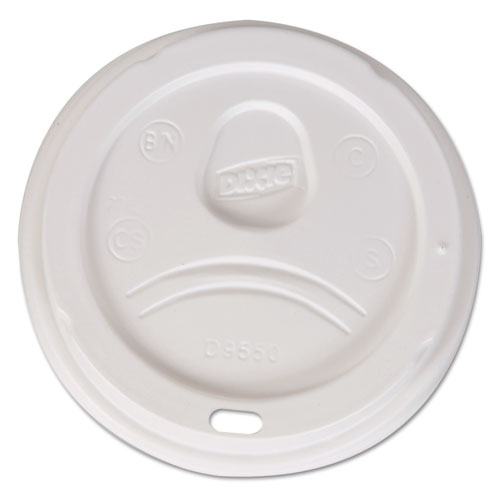 Sip-Through Dome Hot Drink Lids, Fits 20, 24 oz Cups, White, 1000/Carton D9550CT