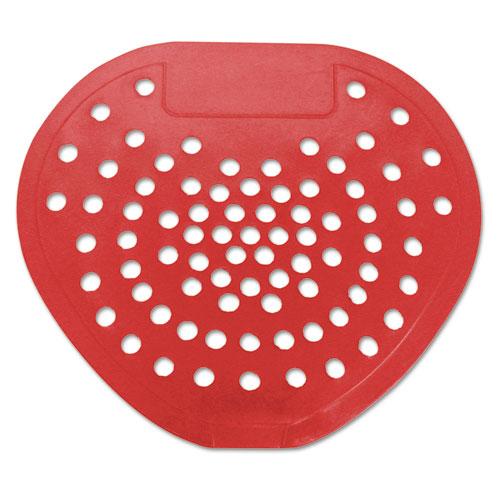 "HOSPECO® Health Gards Vinyl Urinal Screen, 7 3/4""w x 6 7/8""h, Red, Cherry, Dozen"