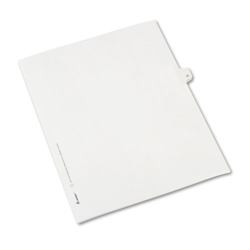 Avery® Allstate-Style Legal Exhibit Side Tab Divider, Title: 41, Letter, White, 25/Pack