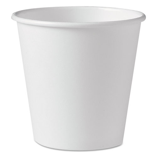Polycoated Hot Paper Cups, 10 oz, White, 1000/Carton 410W