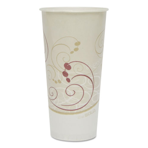 Symphony Treated-Paper Cold Cups, 22oz, White/Beige/Red, 50/Bag, 20 Bags/Carton RS22NSYM