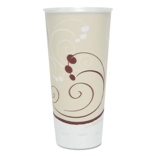 Symphony Trophy Plus Dual Temperature Cups, 22 oz, Beige, 750/Carton X22NSYM
