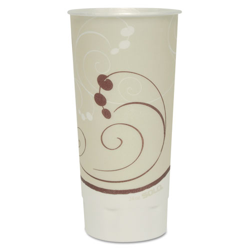 Symphony Trophy Plus Dual Temperature Cups, 24 oz, Beige, 600/Carton XN246SYM