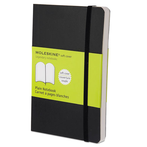 Classic Softcover Notebook, Unruled, Black Cover, 5.5 x 3.5, 192 Sheets