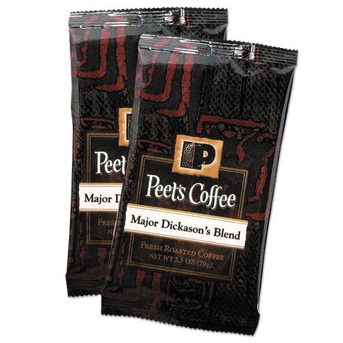 Coffee Portion Packs, Major Dickason's Blend, 2.5 oz Frack Pack, 18/Box | by Plexsupply