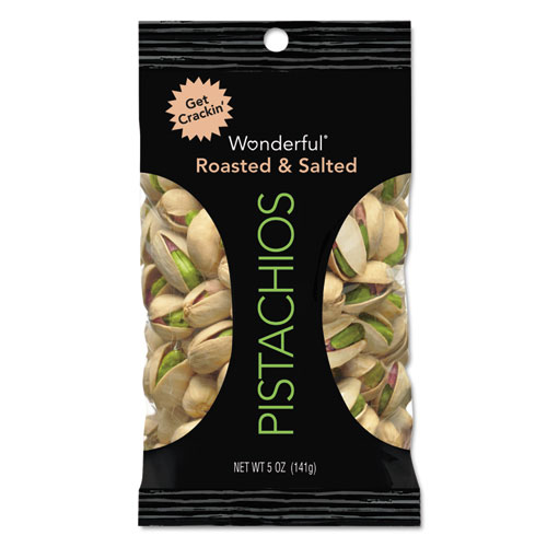 Paramount Farms® Wonderful Pistachios, Dry Roasted and Salted, 2.5 oz, 8/Box