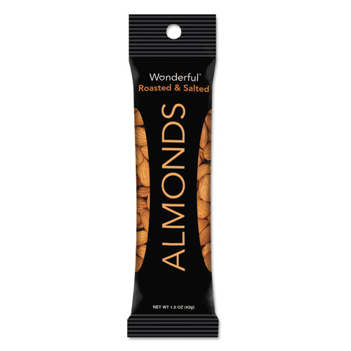 Paramount Farms® Wonderful Almonds, Dry Roasted and Salted, 1.5 oz, 12/Box