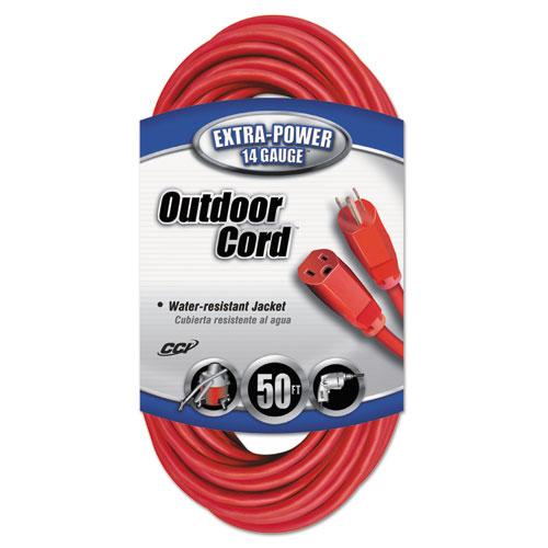 CCI® Vinyl Indoor-Outdoor Extension Cord, 50ft, Red