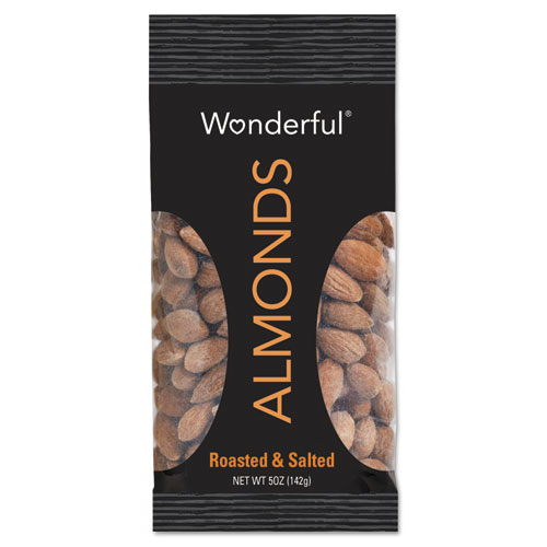 Paramount Farms® Wonderful Almonds, Dry Roasted & Salted, 5 oz, 8/Box