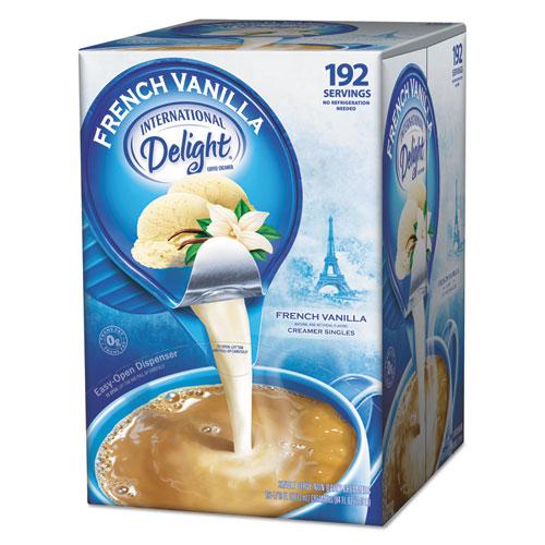 International Delight® Flavored Liquid Non-Dairy Coffee Creamer, French Vanilla, 0.4375 oz Cup, 48/Box