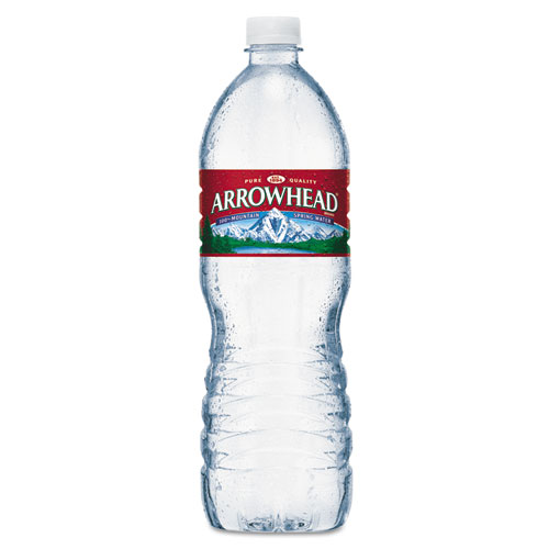 Arrowhead® Natural Spring Water, 1 Liter Bottle, 15 Bottles/Carton