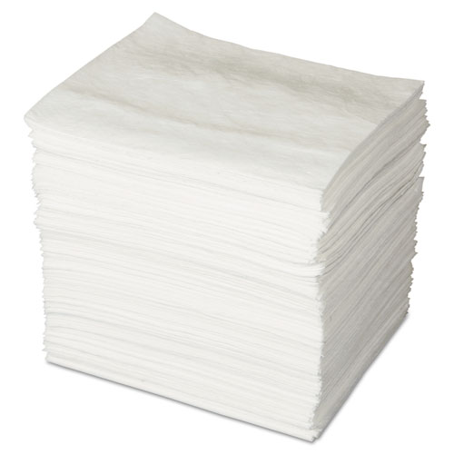 ENV MAXX Enhanced Oil-Only Sorbent Pads, .16gal, 15w x 19l, White, 200/Bundle