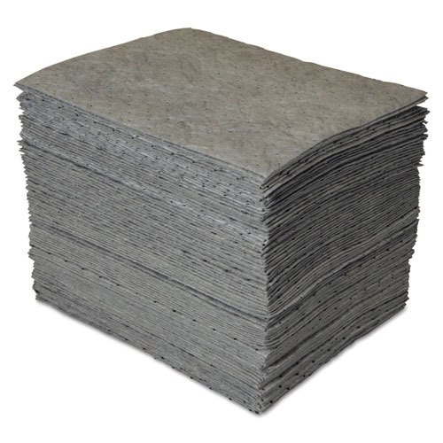 GP MAXX Enhanced Sorbent Pads, .25gal, 15w x 19l, Gray, 100/Carton